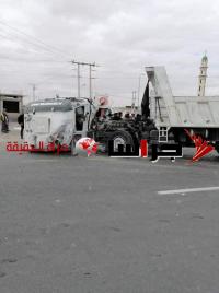 50 إصابة بحادث على الطريق الصحراوي (فيديو وصور)
