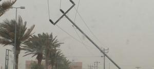 سقوط أعمدة كهرباء داخل نفق عمان الزرقاء