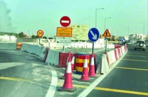 تحويلات على طريق اتوستراد عمان - الزرقاء