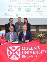 """تعزيز علاقات التعاون بين """"عمان الاهلية"""" وجامعة كوينز"""