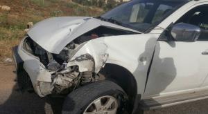"""4 اصابات بتدهور مركبة على طريق """" بشرى - الرمثا """""""