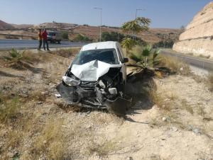 وفاتان بحادث تدهور على طريق اربد - عمان