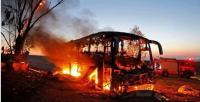 اصابة 13 صهيونيا استهدف حافلتهم صاروخ للمقاومة