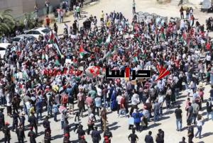 لليوم الثامن  ..  وقفة في الرابية تضامنا مع فلسطين
