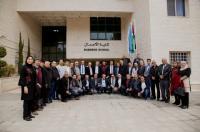 """""""عمان الأهلية"""" تستقبل وفداً فلسطينيا من مناطق 48"""