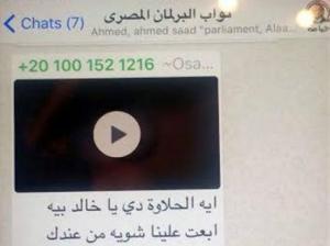 """فيديو إباحي على """"الواتساب"""" يثير أزمة في البرلمان المصري (صور)"""
