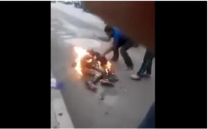الامن يوضح حقيقة فيديو انتحار شاب حرقاً في عمان