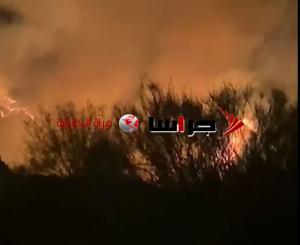 حريق ضخم بأحراش جرش (صور)