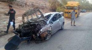 إصابة سيدة بحادث تدهور على طريق اربد عمان