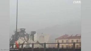 ايطاليا ..  عشرات القتلى بانهيار جسر في جنوى