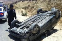 إصابة  5أشخاص بتدهور مركبة في اربد