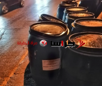 بالصدفة ..  ضبط 100 برميل عصير مشمش فاسد بطريقها لجرش (صور)