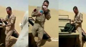 من انقذ الطيار اﻻردني بعد سقوط طائرته بالسعودية؟ (فيديو)