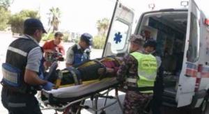 اصابتان بتصادم 7 مركبات في العبدلي