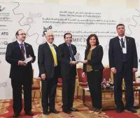 """وزير الطاقة والثروة المعدنية تكرم """" الشرق الأوسط"""""""