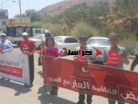 الأمن يوقف حافلة متجهة للاعتصام قرب خط الغاز (صور)