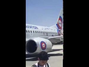 تعطل طائرة اردنية بمطار الملكة علياء واخلاء ركابها (فيديو)