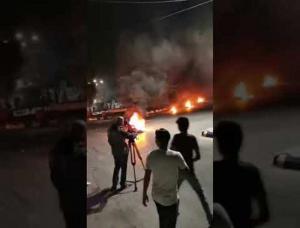 شغب واحتجاجات في الرمثا والأمن يتدخل بالمسيل (فيديو)