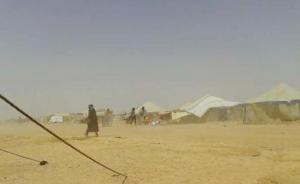 الحلابات: إخلاء 14 شخصا من خيمهم بسبب سوء الاحوال الجوية