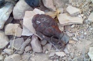 العثور على قنبلة قديمة أمام شرطة غرب اربد