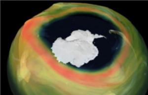 ثقب الأوزون أكبر من القارة القطبية الجنوبية ..
