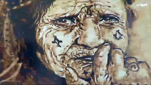 أردني يرسم لوحات فنية ببقايا القهوة (فيديو)
