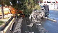 تدهور صهريج على عدد من المركبات في عبدون (صور)
