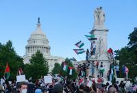 بالصور ..  أميركيون يتظاهرون في مدن عدة تضامنا مع غزة