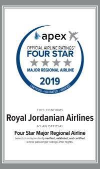 الملكية تفوز بجائزة أفضل شركة طيران إقليمي رئيسية