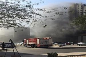 الكويت: حريق بفندق مكون من 20 طابقاً