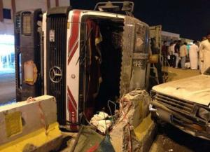 6 اصابات بحادث تصادم في الرويشد