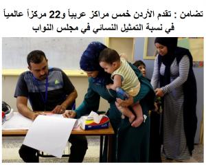 """""""تضامن"""": تقدم الأردن عربياً و عالمياً في نسبة التمثيل النسائي في """"النواب"""""""