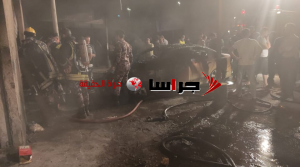 حريق محل تجاري ومركبة بالمدينة الصناعية في جرش (فيديو)