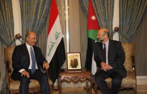 الرزاز يبحث مع الرئيس العراقي تنفيذ مشروع مد أنبوب النفط