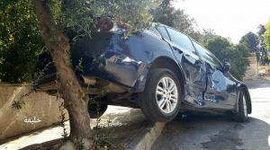 مواطن يركن سيارته فوق الشجرة هربا من المخالفة