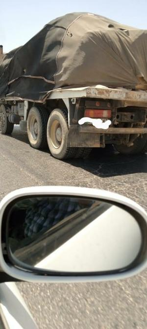 ضبط شاحنة محملة بصخور البازلت من الخربة السمرا
