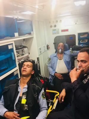 إصابة 3 رجال أمن أثناء إخلاء فندق تعرض لحريق بالعقبة