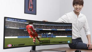 أكبر شاشة ألعاب منحنية في العالم  ..  للحواسب الشخصية!