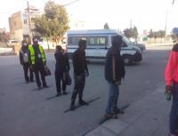 """الشرطة المجتمعية تواصل تطبيق مبادرة """"مسافة أمان"""" (صور)"""