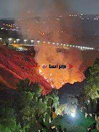الزراعة : حريق جرش في مزارع خاصة وليس بمنطقة حرجية