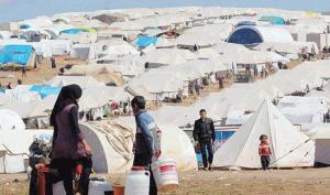 حملة لتطعيم أطفال مخيم الأزرق للاجئين السوريين