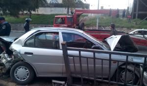 3 اصابات بحادث تصادم قرب الاستقلال مول
