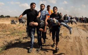 استشهاد فلسطيني واصابة آخر بمواجهات مع الاحتلال في غزة