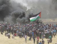 إصابات في الجمعة الـ 84 لمسيرات العودة بغزة