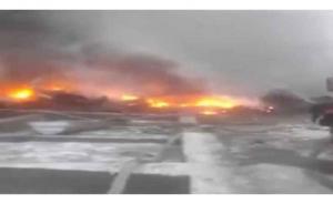 عشرات القتلى بتحطم طائرة تركية فوق منطقة سكنية في قرغيزستان