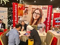 مشاركة جامعة بيدفوردشير البريطانية في المعرض الدولي للدراسة