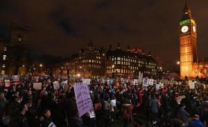 الآلاف يتظاهرون ضد ترامب في لندن