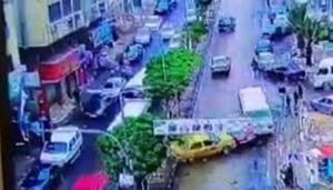 عجلون  ..  شاهد كيف نجوا من الحادث بأعجوبة (فيديو)