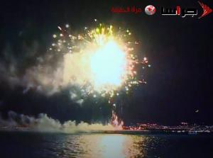 اطلاق الالعاب النارية بكثافة في سماء المملكة (صور وفيديو)