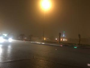 اغلاق طريق وادي عربة العقبة بسبب الغبار الكثيف